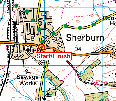 Map of the Sherburn area