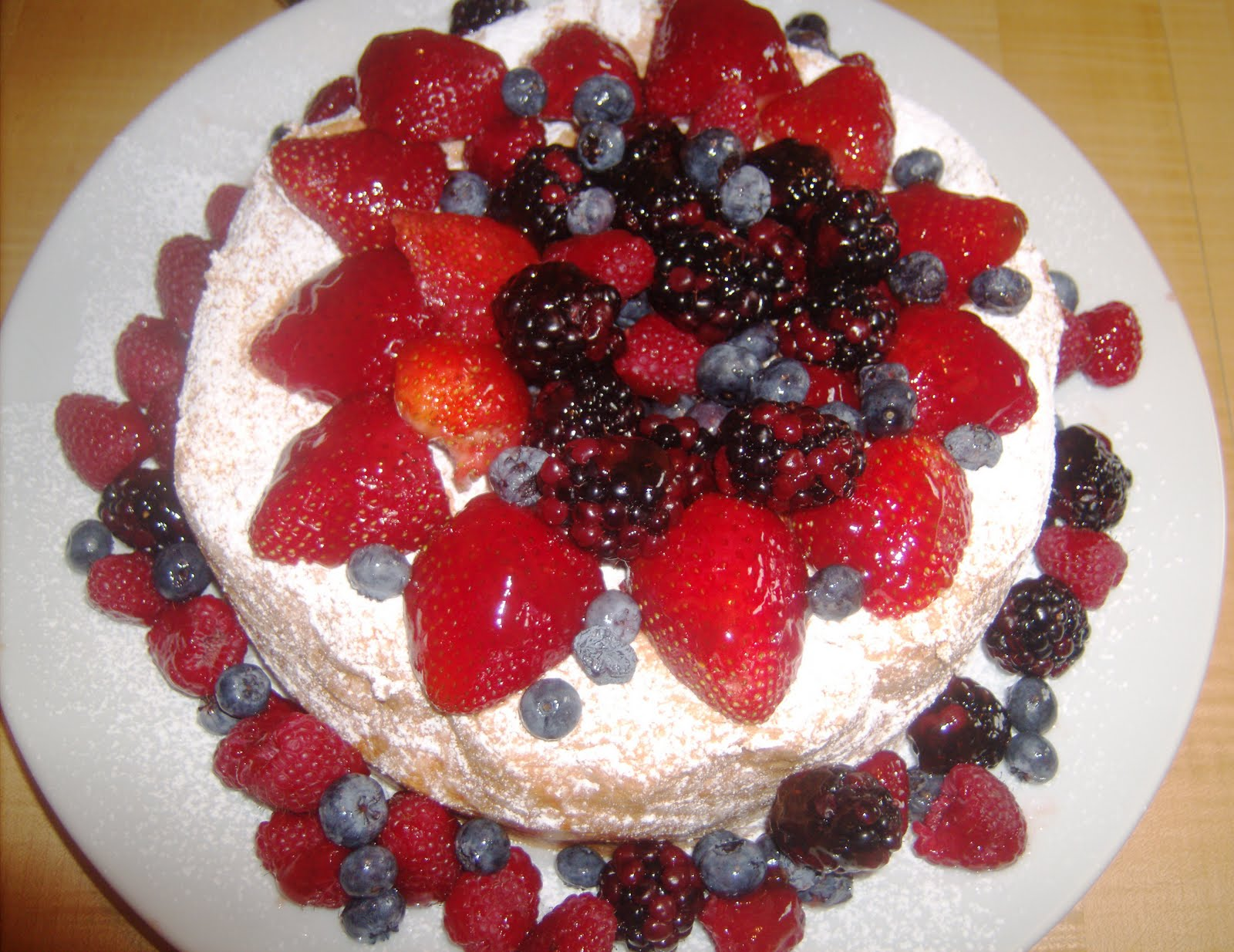 food and thrift angel food cake with fresh berries