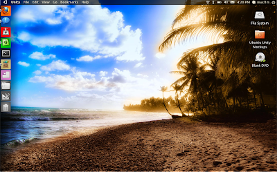 Ubuntu Unity Desktop Mockup