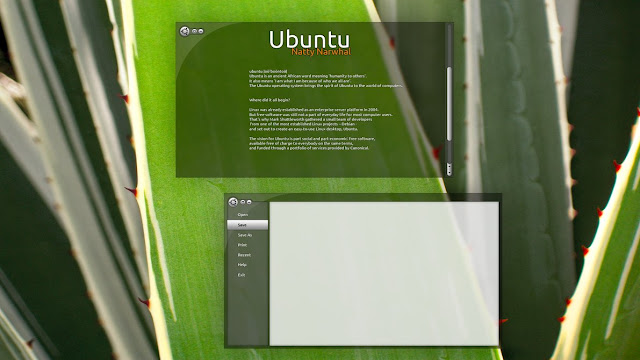 Ubuntu Unity Theme Mockup