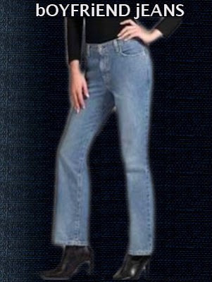 Boyfriend jeans is the newest women fashion trend.
