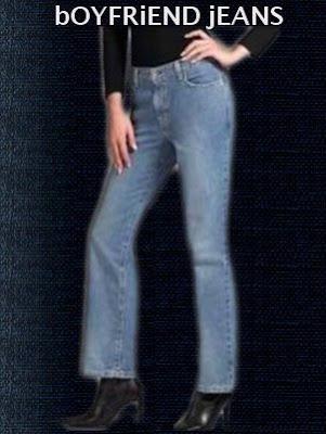 Boyfriend jeans is the newest women fashion trend.