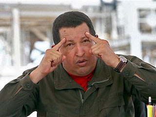 May 28: Venezuelan President Hugo Chavez gestures during his radio and television show 'Hello President' in Maracaibo, Venezuela.