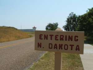 Entering North Dakota