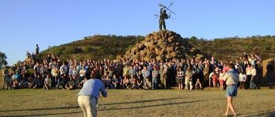 Group Photo, at Vegkop Monument, at 1836 Vegkop Battleground, Heilbron; Sept 27 2009