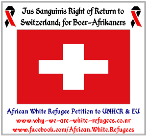 Jus Sanguinis Right of Return to England; for African White Refugees