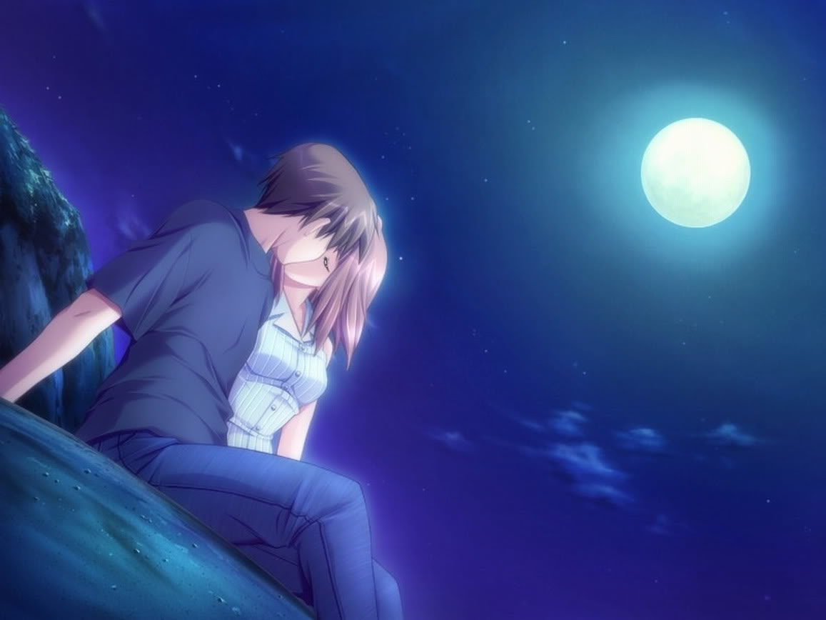 Anime Couples in Love Under the Moon Picture