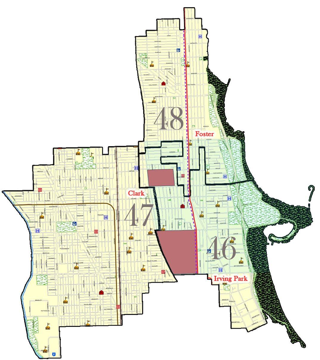 Uptown Update Fun With Maps - Chicago alderman map