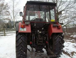 Tractor cu incarcator frontal cupa second hand ieftin Deutz Fahr Torpedo TX80 1990 82 CP 9300 Euro