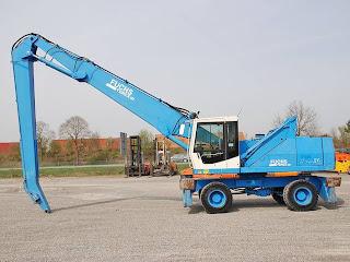 3 710175 Excavatoare Industriale Manevrare Materiale Terex Fuchs MHL 350 second hand 33tone 16m 2003 90.000 Euro