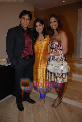 Sakshi Tanwar is in blue dress