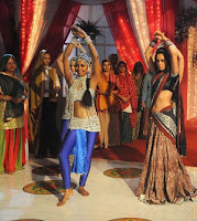 Mallika Sherawat on the sets of the TV show 'Na Aana Is Des Laado'