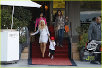 Christina Aguilera and Her Son Max SLS Hotel Photos