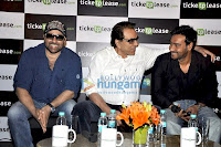 Dharmendra, Sunny Deol and Ajay Devgn Launch Ticketplease.com Website Pics