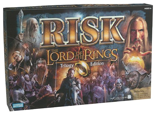 Risk Board Game Lord Of The Rings Trilogy Edition