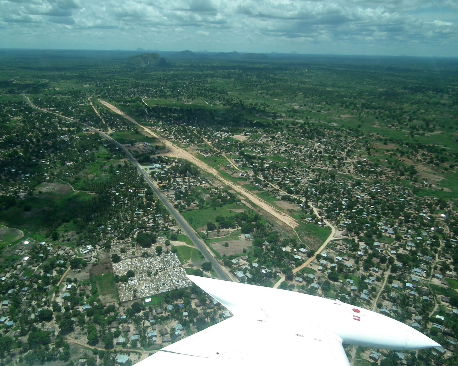 Mocuba and the airstrip.
