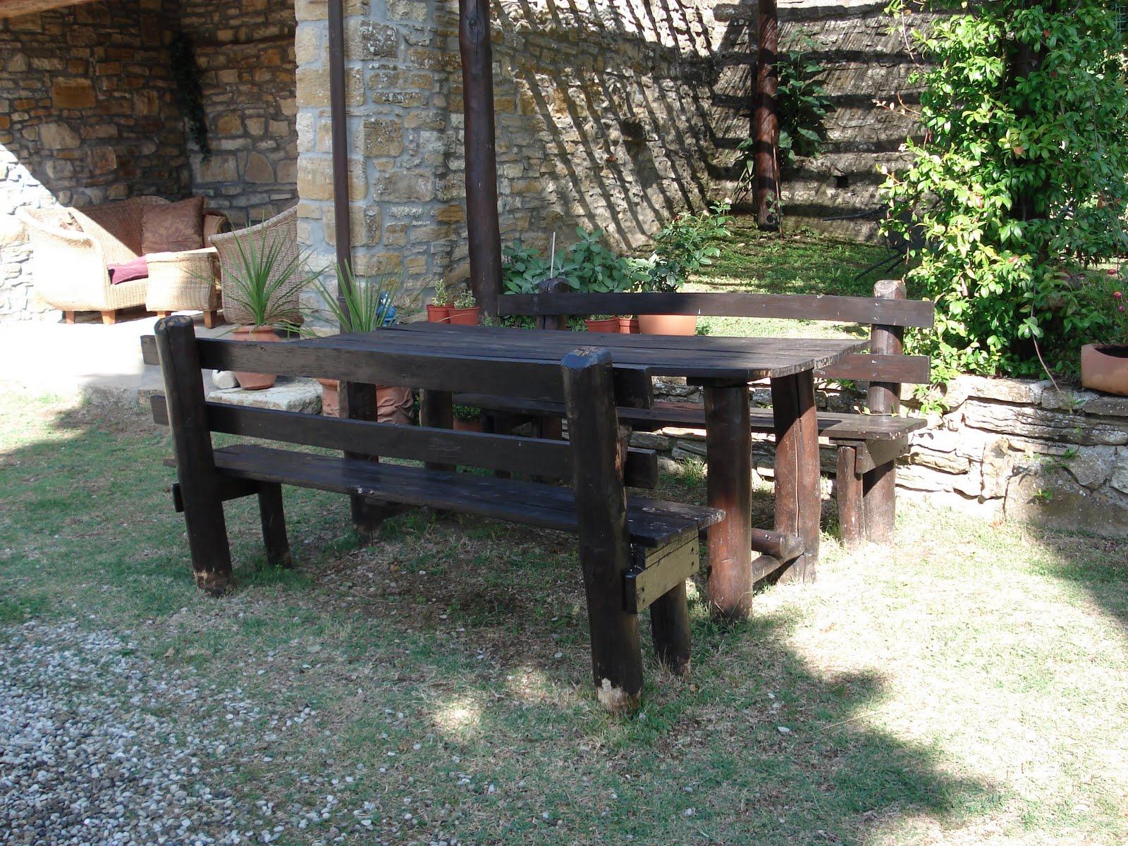 Lavori in legno per esterno i miei tavoli e panchine da esterno - Tavoli per esterno in legno ...