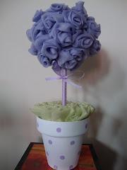 arbolito de rosas de voile lila
