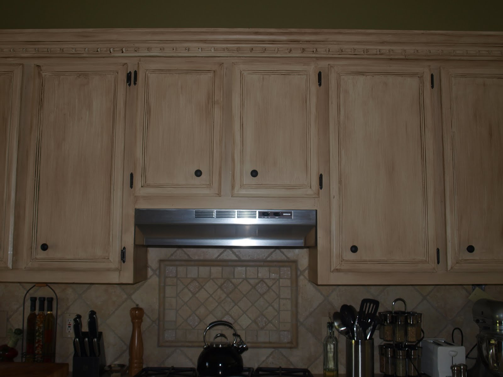 Tea Stained Kitchen Cabinets