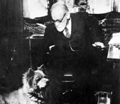Freud e seu cão.