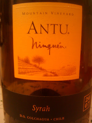 WINE IN SWEDEN: TN : Antu Ninquen Mountain Vineyard Syrah 2007 ...
