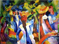 Girls Under the Tree - after Macke