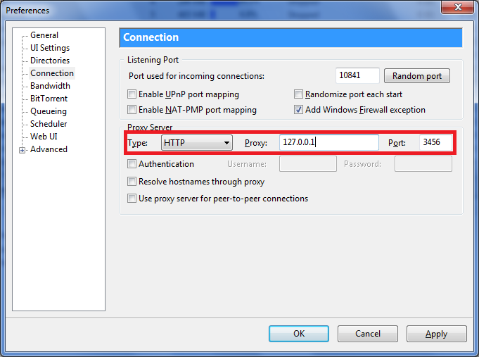Ratio Cheater: Configure utorrent