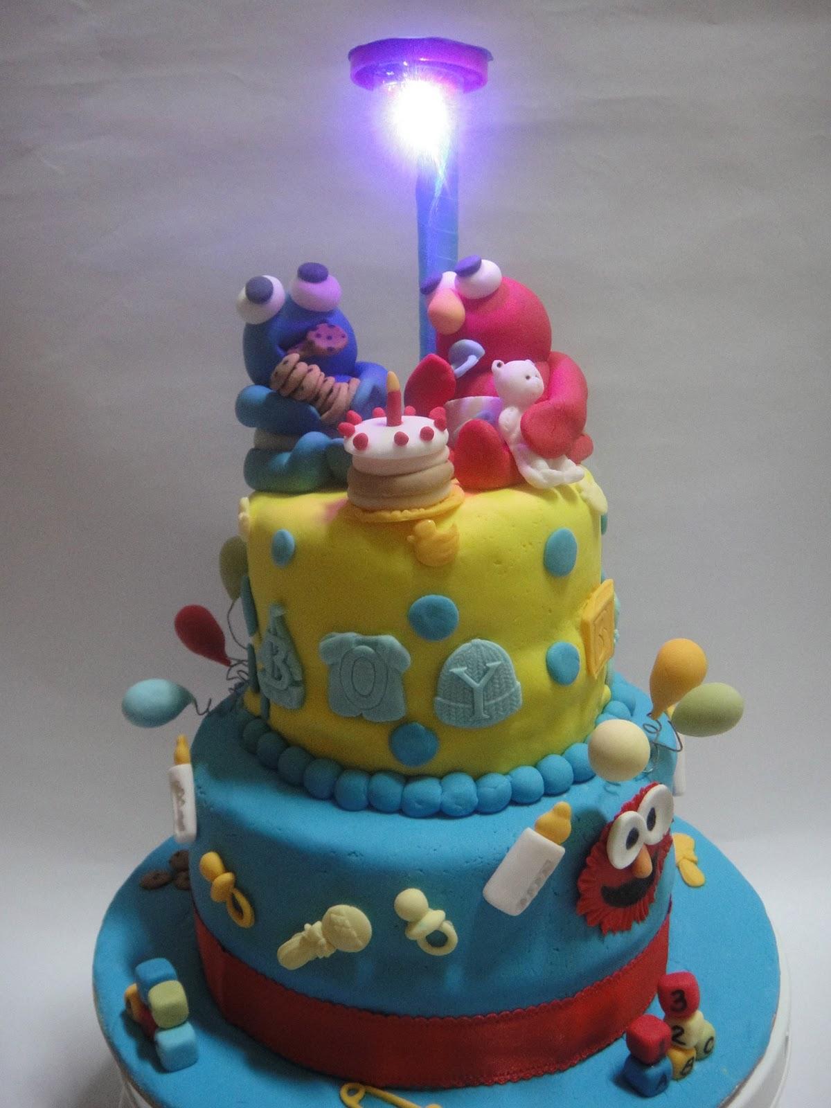 ... Lovely Homebake: Elmo & Cookie Monster Birthday Cake for Lucas & ...