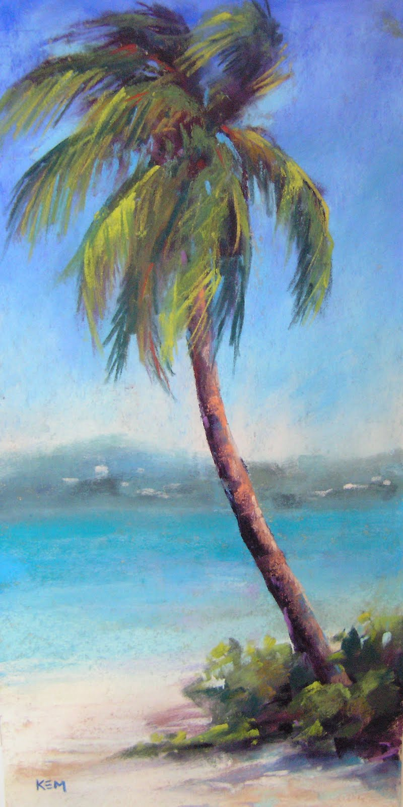 Painting my world june 2010 for Painting palm trees