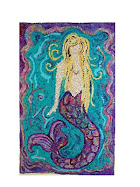 Mermaid Hooked Rug