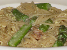 Spaghetti Carbonara with Asparagus