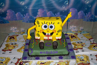 Kroger Birthday Cakes on This Was Her Spongebob Square Pants Cake Made By Mommy