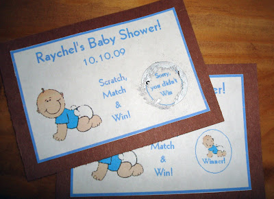 Baby Shower Lotto Tickets