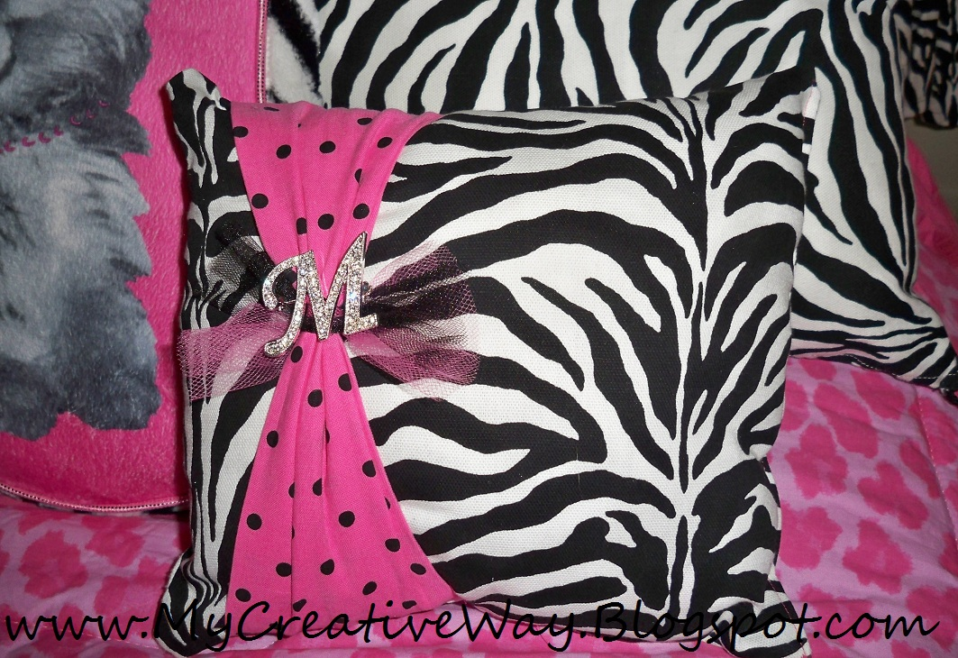 My Creative Way: Zebra Diva Bedding with DIY Decorative Zebra Pillows