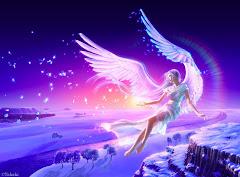 Un angel en el cielo