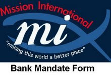 Bank Mandate Form - Monthly giving