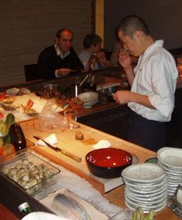 Koy Shunka co-owner &amp; Head Chef Hideki Matsuhisa inspects an Alba truffle