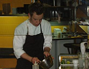 Me in the kitchens at Comerç 24 in Barcelona