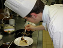 Me plating up in the college Brasserie kitchen