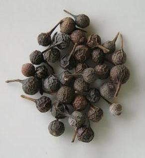 Dried cubeb peppercorns