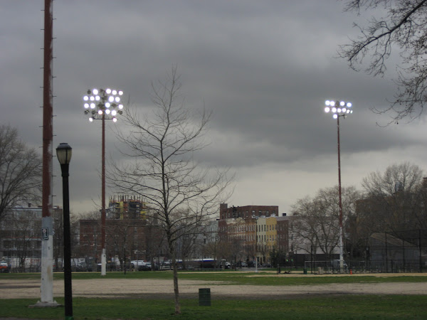 McCarren Park Lights - In McCarren Park in Williamsburg.