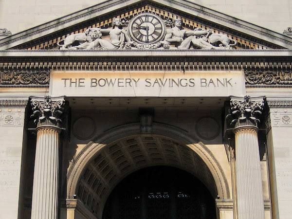 Bowery Bank Vault - Vaulted entry on the Bowery face of the bank.