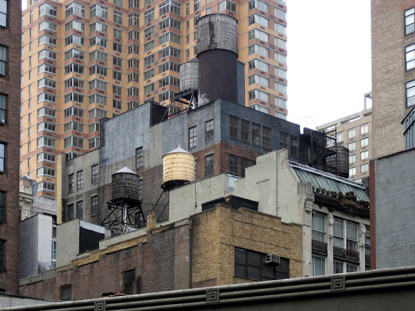 Tanks Above Broadway - Above 28th St., looking toward 6th Ave.