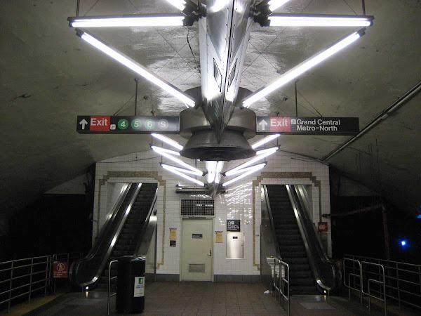 Grand Central Lights - On the 7 Train platform.