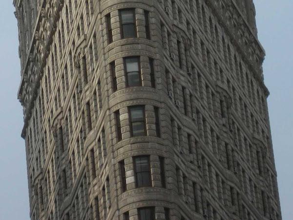 Leaning Flatiron Closeup - The Flatiron Building from up Broadway.