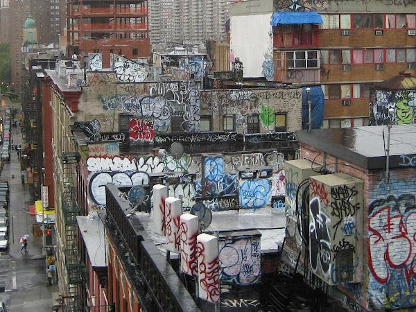 Chinatown Rooftops 2 - From the Manhattan Bridge.