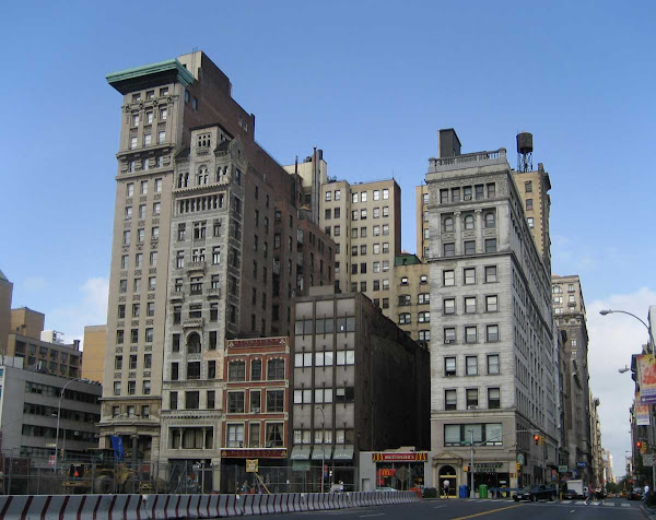 Union Square Building Bookshelf - My longtime favorite cluster of buildings, on Union Square West at 17th St.