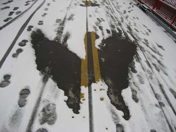 Snow Bird Painting - Like Rodan, at the LES end of the Williamsburg Bridge.
