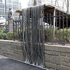 Wire Waterfall - On 6th Ave. at Bryant Park.