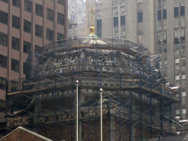 Saint Scaffold - When they were working on the dome at St. Bart's on Park Ave. at 51st St.